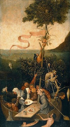 Hieronymus Bosch_ The ship of fools 1490-1500 Louvre