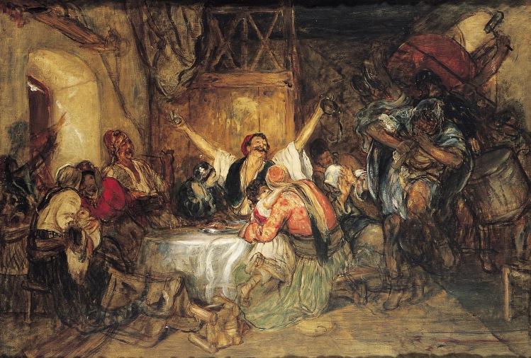 Νικόλαος Γύζης:Απόκριες στην Αθήνα(1892)