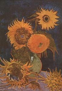 Vincent van Gogh - Still Life Vase With Five Sunflowers